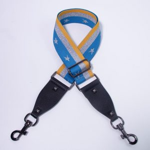 Hi Ho Silver Bag Strap Blue Yellow Silver Star