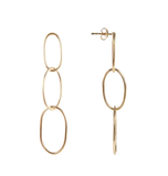 Fairley Marilyn Link Earrings Gold