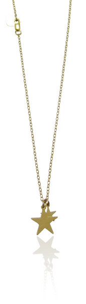 MISUZI Double Star Necklace Gold