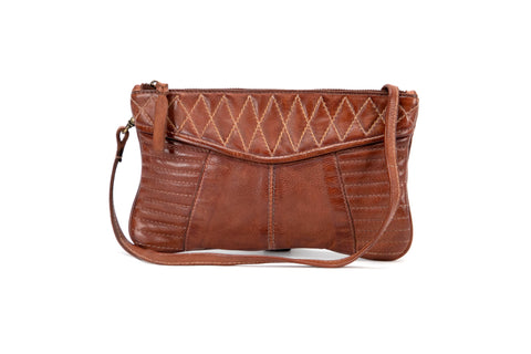 Mahson & Co Follow The Sun Clutch Cognac