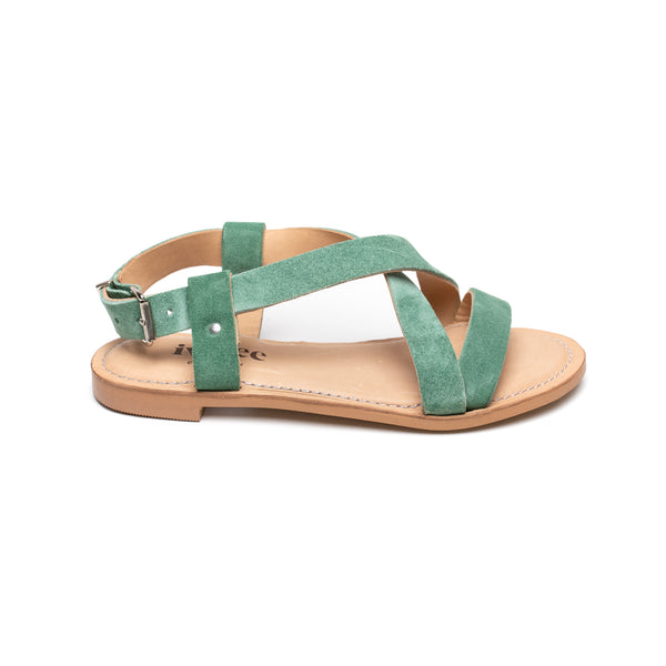 Ivy Lee Laura Mint Green Suede