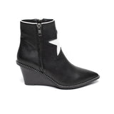 Caverley Robbie Wedge Boot Black