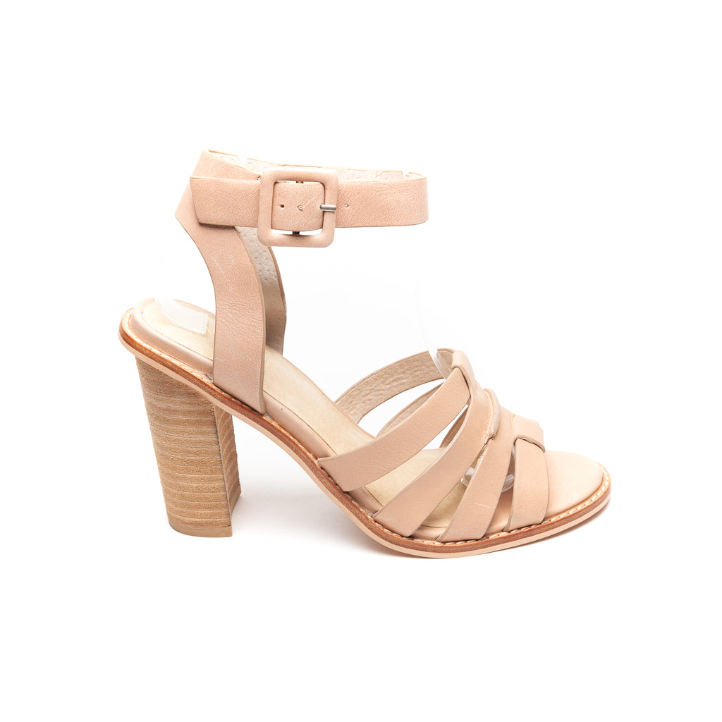 Nude Lela in Nude leather - LAST PAIR
