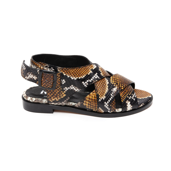 Ivy Lee Piper Yellow Faux Python