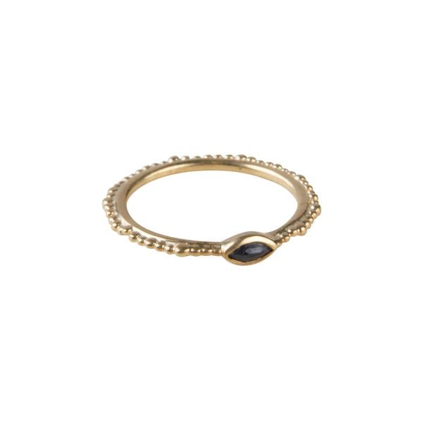 Fairley Blue Sapphire Crown Stacker Ring