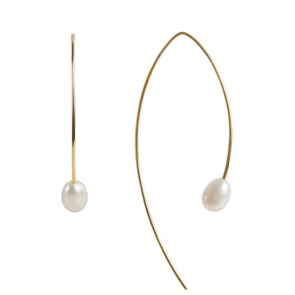 Pearl Curve Earring Gold