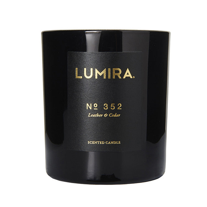 Lumira No. 352 Leather & Cedar Candle
