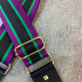 Hi Ho Silver Bag Strap Purple Green Stripe