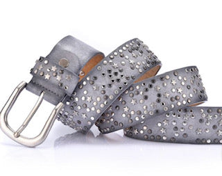 Hi Ho Silver Stardust Leather Belt Silver