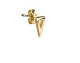 Fairley Triangle Studs Gold