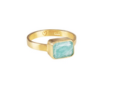 Fairley Amazonite Deco Ring Gold