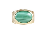 Fairley Malachite Cocktail Ring Gold