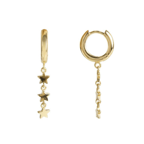 Fairley Mini Stardust Hoops Gold