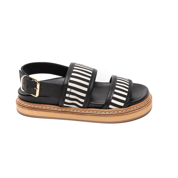 Ivy Lee Sarah Black and White Stripe - LAST PAIR size 36