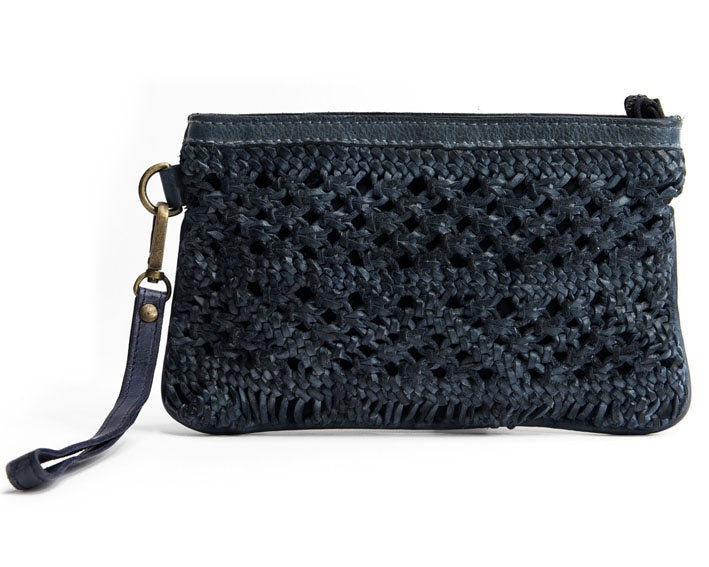 Mahson & Co Summer Lovin Clutch Bag Navy