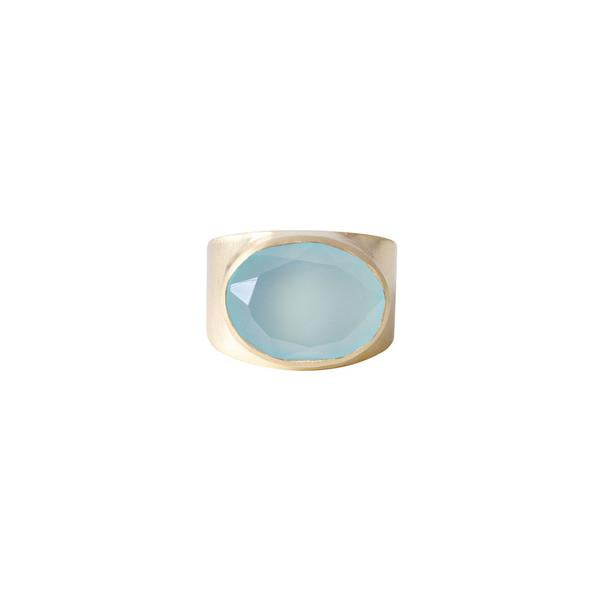 Fairley Blue Chalcedony Cocktail Ring