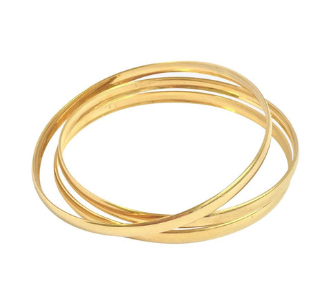 Misuzi Thick Bangles Set of 3 Gold