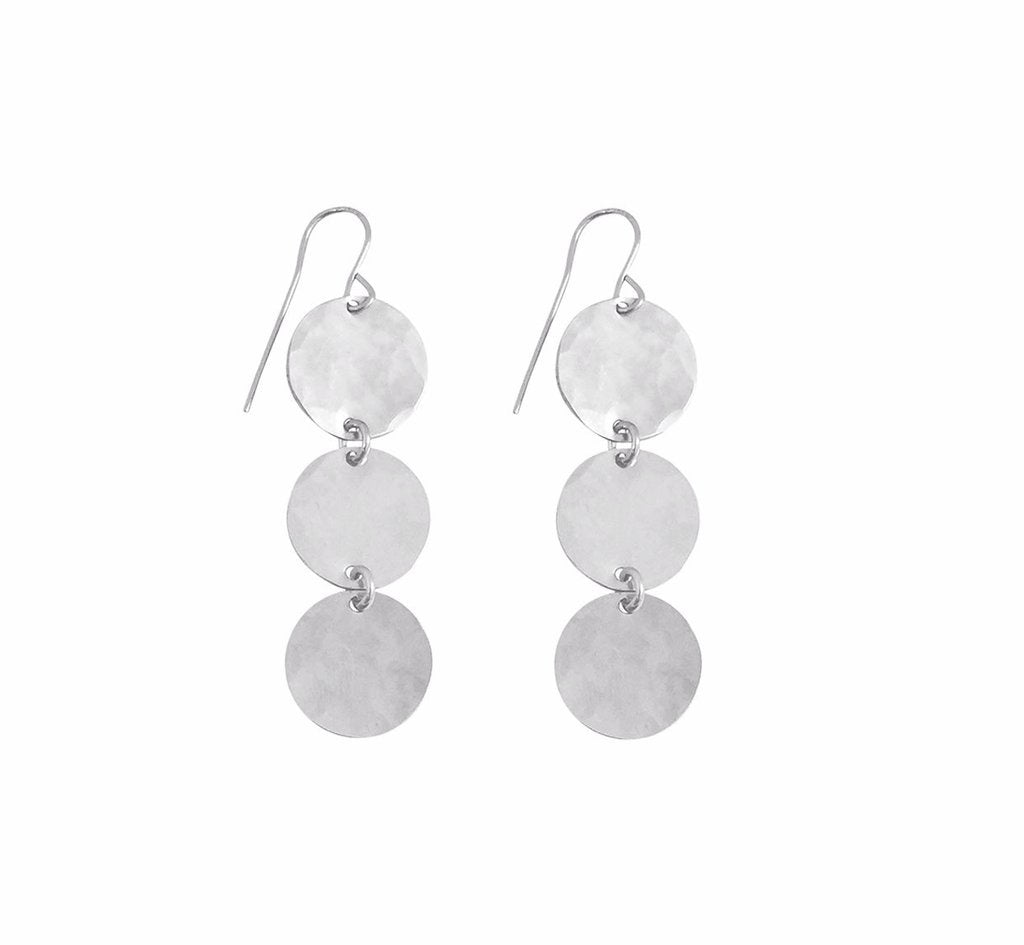 Misuzi Triple Hammered Earring Silver