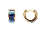 Fairley Blue Ombre Crystal Huggies Gold