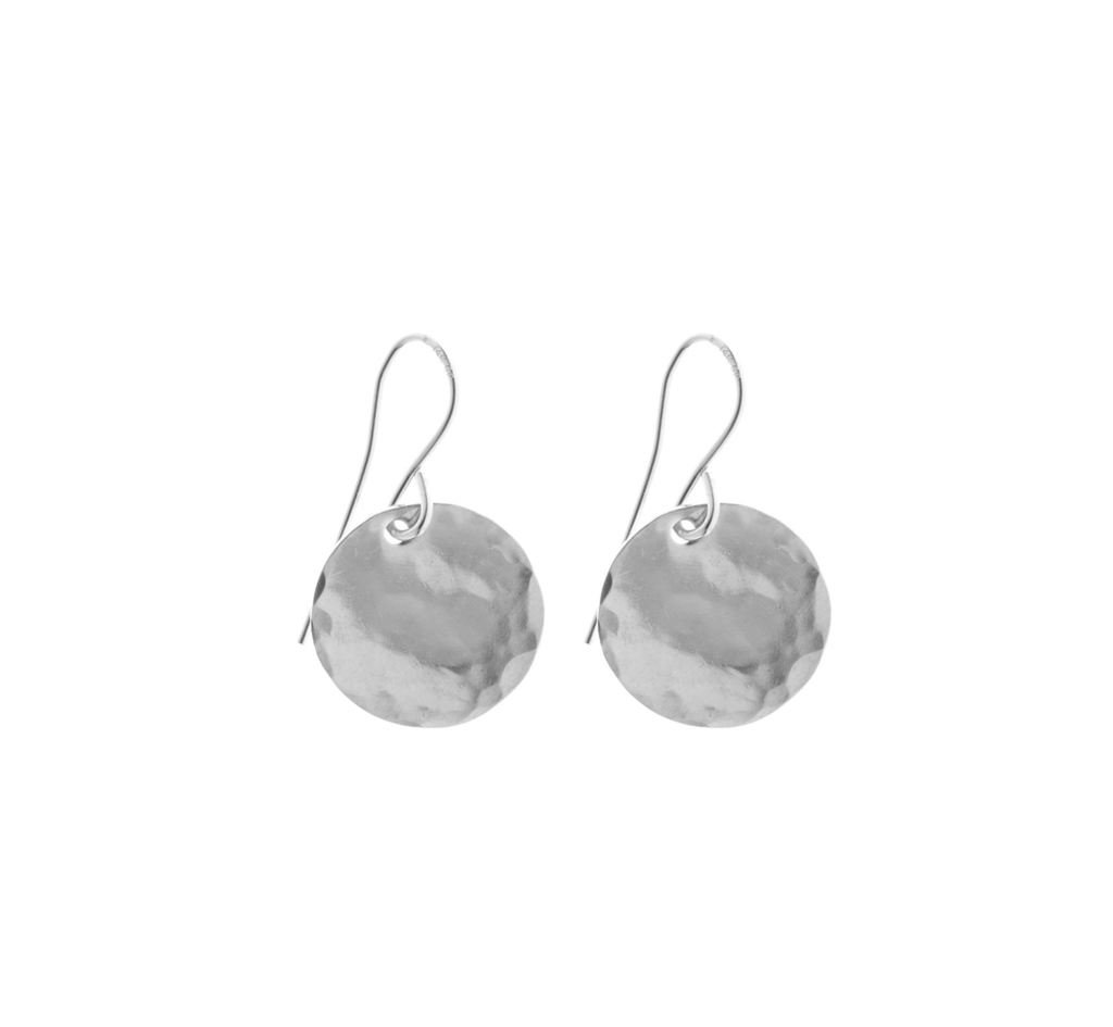 Misuzi Hammered Mini Disc Earring Silver
