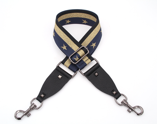 Hi Ho Silver Bag Strap Navy Gold Star
