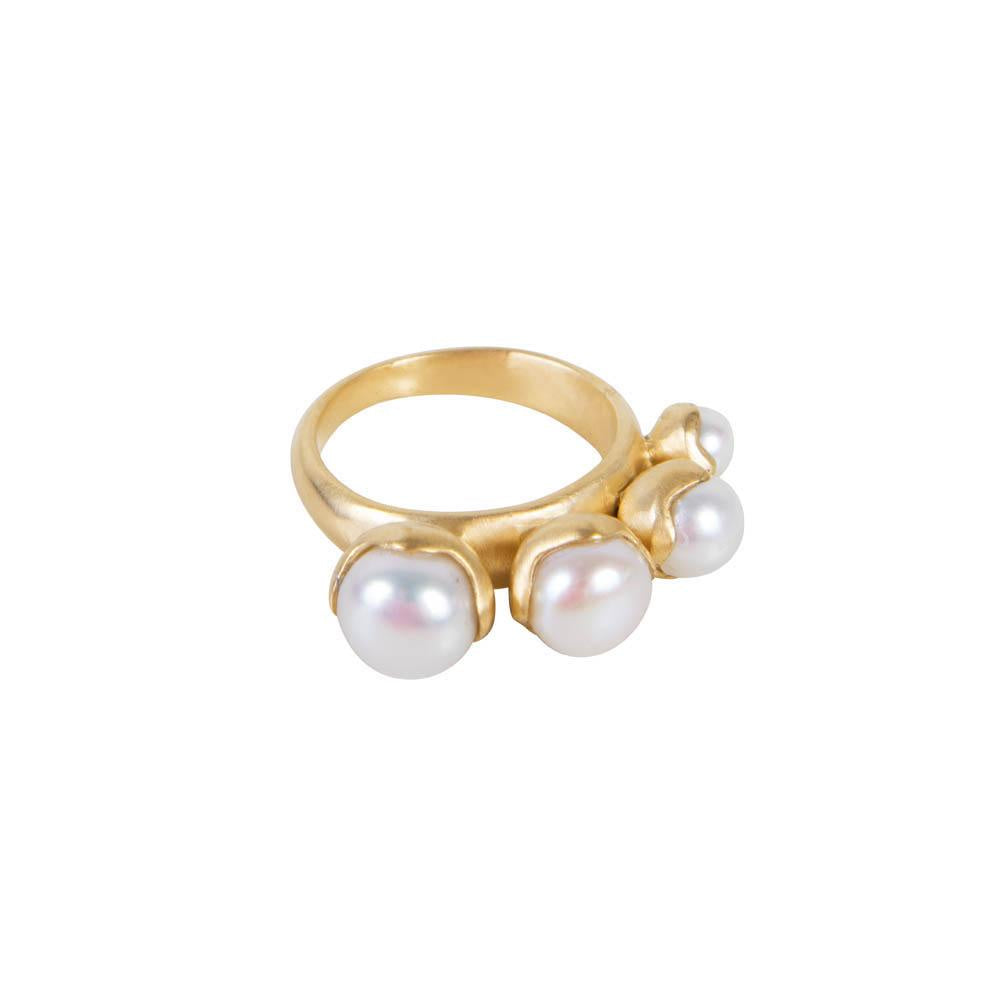 Fairley Quattro Pearl Ring