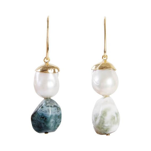Fairley Baroque Jasper Sorrento Drops Gold