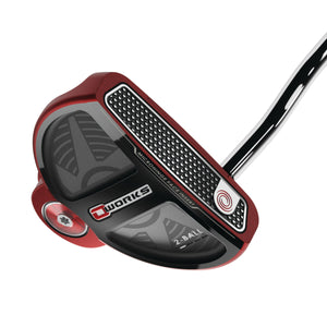 Odyssey O-Works Red 2 Ball Putter Left Handed- Winn Grip