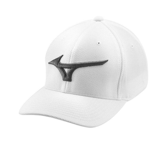 Mizuno Tour Performance Fitted Hat- White- One Size