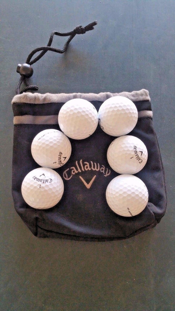 Callaway Valuables Pouch with 6 New Callaway Supersoft Golf Balls