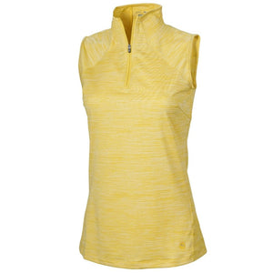 Cobra Women's Daily Golf Mockneck Polo- Super Lemon
