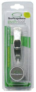 Softspikes Push Divot Repair Tool- with Ball Marker - Bogies R Us Golf Shop LowCountry Custom Golf