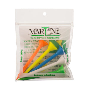 "Martini Golf Tee- 3 1/4""- Mixed- 1 Pack of 5 Tees - Bogies R Us Golf Shop LowCountry Custom Golf"