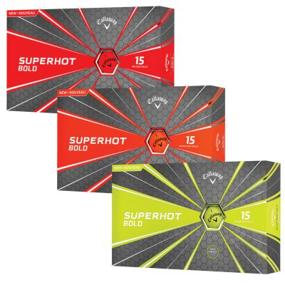Callaway Superhot Bold Golf Balls 15 Pack - Bogies R Us Golf Shop LowCountry Custom Golf