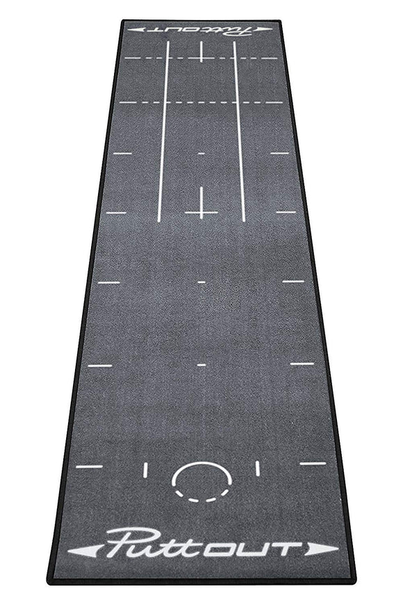 PuttOut Pro Golf Putting Mat- Grey