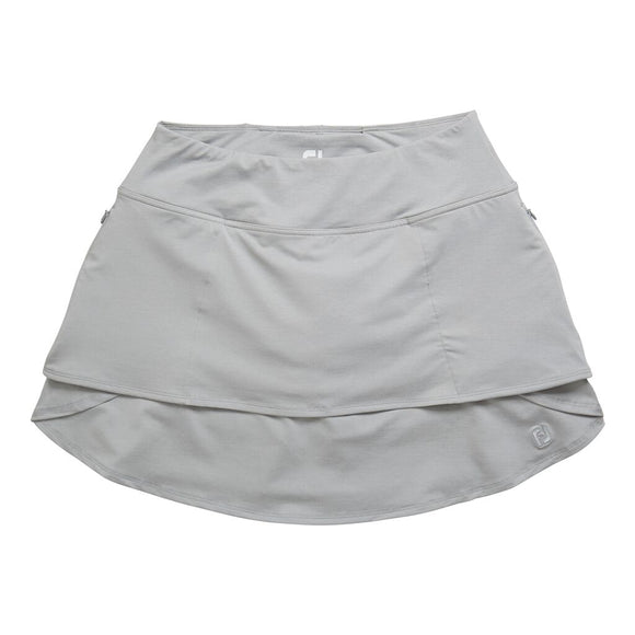 FootJoy Women's Performance Layered Skort- Heather Grey