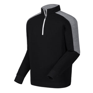 FootJoy Sleeve Stripe Rib Midlayer- Black/White - Bogies R Us Golf Shop LowCountry Custom Golf