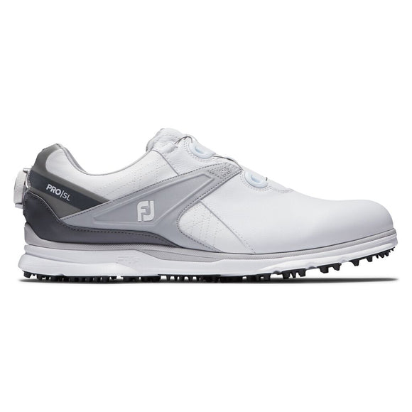 FootJoy 2020 Men's Pro SL BOA Golf Shoes- White/Grey