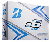 Bridgestone Womens e6 Lady Golf Balls White- Dozen