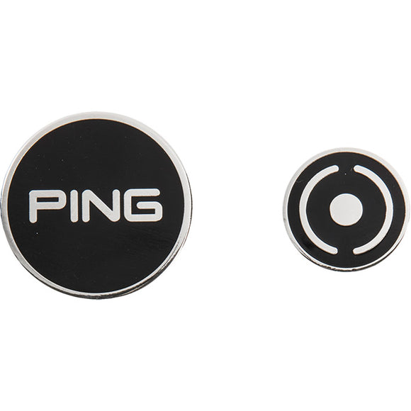 Ping Combo Ball Marker- Silver/Black