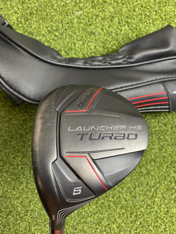 Cleveland Launcher HB Turbo 5 18* Fairway Wood, Evenflow Regular Flex, LH