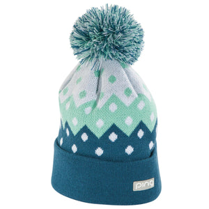 New Ping Winter Ladies Knit Beanie- White/Mint/Teal - Bogies R Us Golf Shop LowCountry Custom Golf