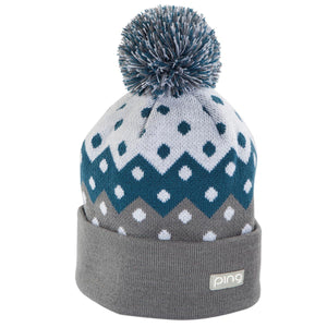 New Ping Winter Ladies Knit Beanie- Teal/Ash - Bogies R Us Golf Shop LowCountry Custom Golf