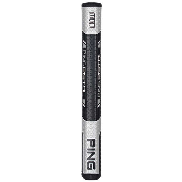 NEW Ping Pistol PP62  Black/Silver Non-Taper Midsize Putter Grip