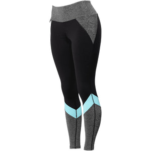 FootJoy Women's Color Block Leggings- Black/Charcoal/Blue