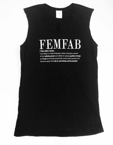 The FemFab Definition MUSCLE TEE in BLACK