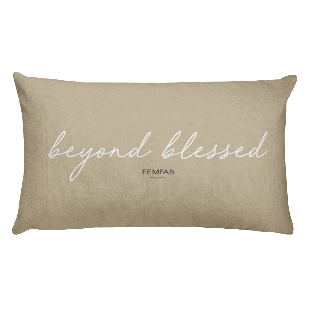 Beyond Blessed/Thankful Pillow in BEIGE