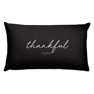 Beyond Blessed/Thankful Pillow in BLACK