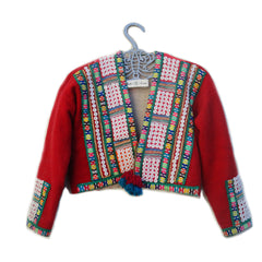 Peruvian Red Wool Cropped Jacket