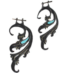 Paisley and Bone Earrings